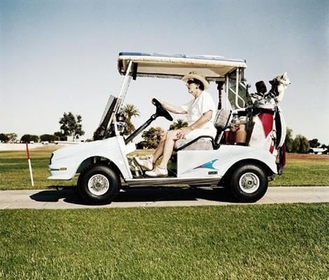 het golfkarretje