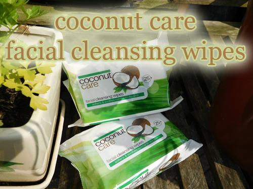 coconut care facial wipes