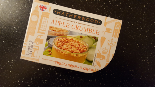 apple crumble verpakking