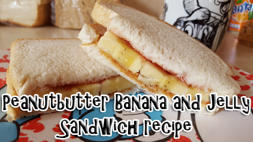 Recept – Peanutbutter banana and jelly sandwich