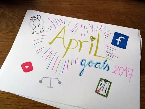 Doelen van maart gelukt ? Nieuwe doelen april