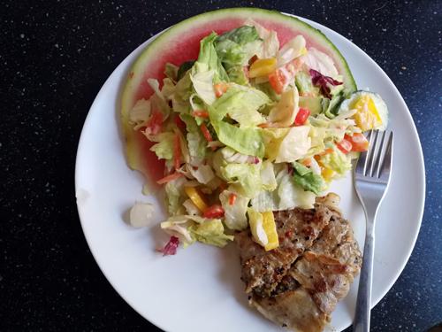 365 plates #230 watermeloensalade en andere dingen