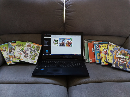 Sims 4 toegevoegd aan mijn verzameling !