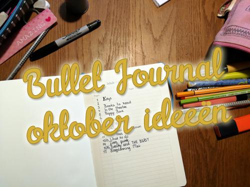 Oktober ideeën voor je bullet journal