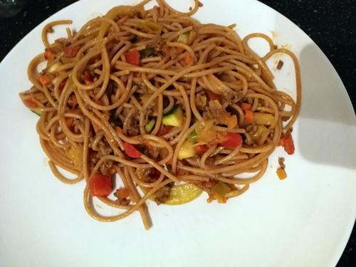365 plates #354 een makkelijke pasta en les geven