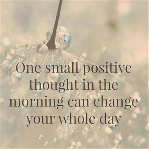 Maandagmorgen, even wat positiviteit