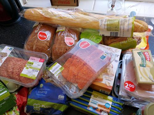 Bij Zus' boodschappenwagen – boodschappen shoplog