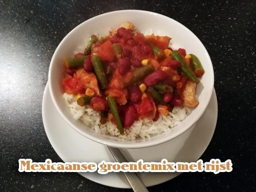 Recept/inspiratie tip Mexicaanse groentemix met rijst