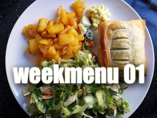 Weekmenu 01 – lekker gevarieerd gegeten