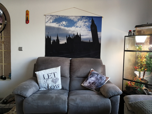 The Big Ben op linnen aan de muur