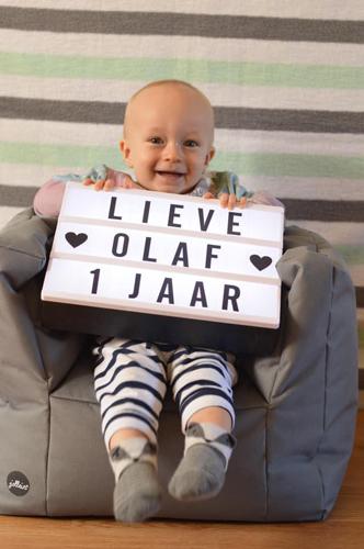 Hiep hiep hoera: Olaf 1 jaar!