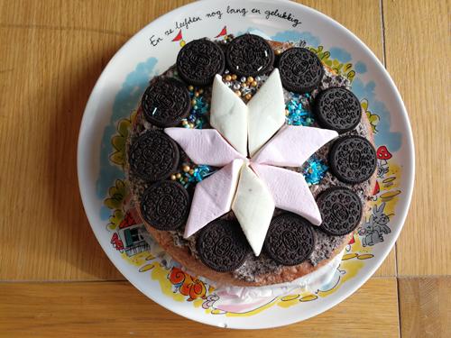 Vrolijke Oreo cake – recept