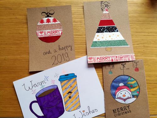 DIY inspiratie voor kerstkaarten
