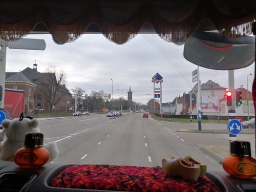Roermond vanuit de vrachtwagen