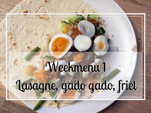 Ons weekmenu #1 lasagne, gado gado en veel friet