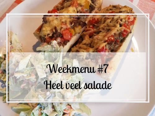 Weekmenu #7 Heel veel salade