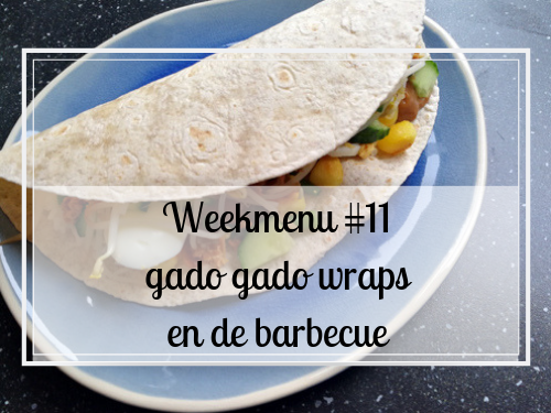 Weekmenu #11 gado gado wraps en de barbecue