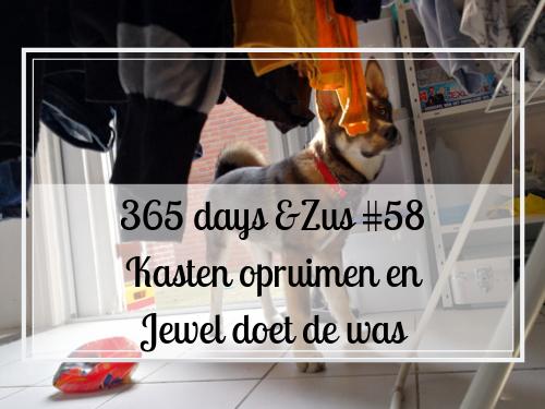 365 days &Zus #58 de kasten opruimen en Jewel doet de was