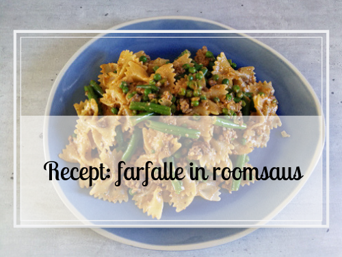 Recept: farfalle in roomsaus