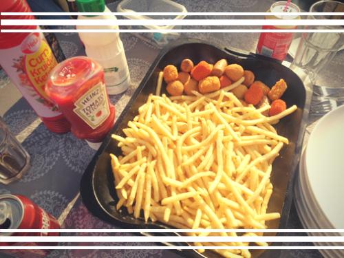 Weekmenu #14 een schaal friet met mini snacks