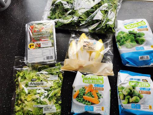 weekboodschappen groente