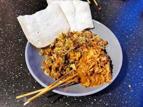 knoflookrijst nasi